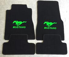 Autoteppich Fußmatten für Ford Mustang ab 2015' schw. neongrün Neu 4tlg. Velours