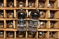 MATCHED PAIR 6S45P-E / WE437 / EC8020 TRIODE TUBE TESTED L1-3 NOS REFLECTOR USSR