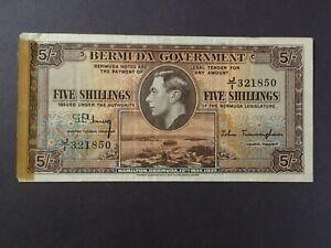 BERMUDA  5 Shillings  1937