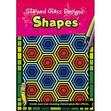 Stained Glass Designs - Shapes - Creative Colouring Book (B100)
