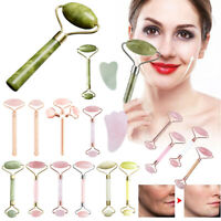 Facial Massage Roller Jade Face Massager Beauty Tool Body Eye Neck Hand AU