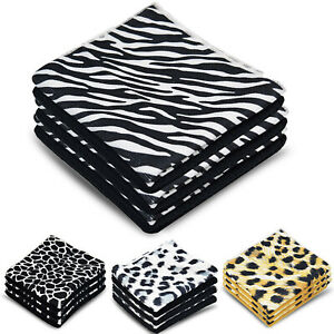 Towelogy® 2/4/6 Absorbent Microfibre Kitchen Cleaning Towels Print Dish Cloths