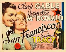 San Fransisco11 X 14  Title Lobby Card TLC  Clark Gable Jeanette MacDonald