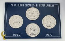 1952-1977 H.M. Queen Elizabeth II Silver Jubilee 4 pc Coin Set United Kingdom
