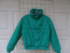 Vintage  Roffe Green Ski Jacket Down Puffer Blue USA  Womens 12