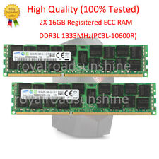 2x Samsung 16GB RAM PC3L-10600R DDR3 1333Mh​z Regisitered  ECC SERVER Memory @RS