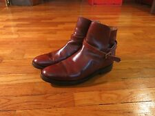 Trickers Made England Men's 10 10.5 Jodhpur Brown Leather Chelsea Boots