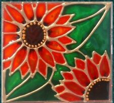 Sunflower Sun Flower Night Light Wall Plug In Decorative Stain Art Glass Gift