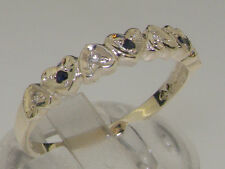 Sapphire Eternity Round Sterling Silver Fine Rings