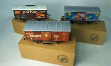 More details for boxed o gauge tinplate advertising vans by ets mint unused condition.