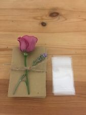 Kraft seed packets for wedding favours - sold in multiples of 10