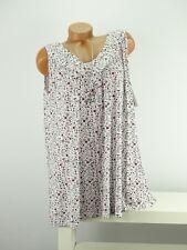 Shirt + Kette Top Tunika Lagenlook Größe 46 - 52 one size weiß bunt geblümt w