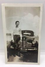 VTG Photo Antique Chevrolet Chevy Car Man MN Plate 1948 Pic Snapshot Automobile