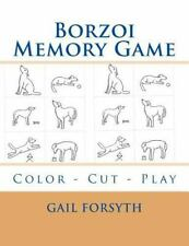 Borzoi Memory Game : Color - Cut - Play by Gail Forsyth (2015, Paperback)