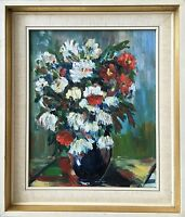 Expressionist - Blooming Flowers - Still Life - - Unsigned - Oil Painting