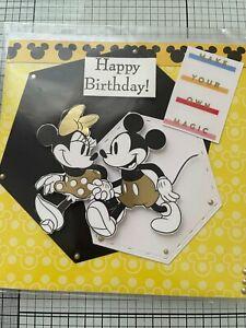 BIRTHDAY, 3D/ DIE CUT HANDMADE DISNEY'S HAPPY MICKEY, MINNIE  & FRIENDS CARD