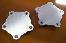 """For Showwheels American Legend Streeter Racer  Block-off Aluminum Flat Caps 1/4"""""""