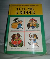 VTG Children's Book Tell Me a Riddle A Parent's Magazine Press Hardcover 1962