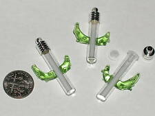 1pc South western Small Glass Cactus plant Tube Pendant Vial Lampwork bottle *