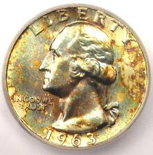1963 Type B Washington Quarter 25C - Certified ICG MS67 - Rare Type B Variety!