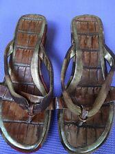Nine West Rustic Look Wedge Heel Sandals Fit 5