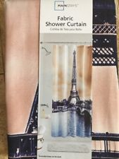 Mainstays Fabric Paris Shower Curtain Pink And Navy
