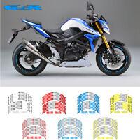 """MOTORCYCLE RIM """"17 STRIPES WHEEL DECALS TAPE STICKERS FOR SUZUKI GSR 400 750 600"""