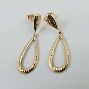 14ct Yellow Gold 585 Drop/Dangle Earrings Marked 14K