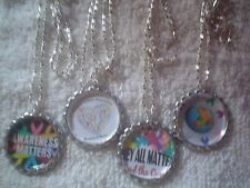 All Cancer Awareness Ribbons Matters Bottle Cap Fashion Jewelry Necklaces Lot 4