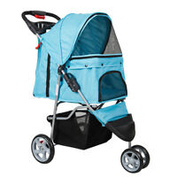 3-Wheels Elite Jogger Pet Stroller Kitten/Puppy Easy Walk Folding Travel Carrier