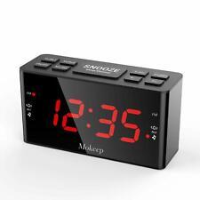 Alarm Clock Radios, Digital AM FM Alarm Radio Clock with LED Display, Dimmer, Sl