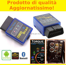 INTERFACCIA MINI ELM OBD2 BLUETOOTH DIAGNOSI AUTO OBDII CAN BUS ANDROID TORQUE
