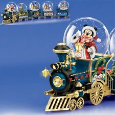 Santa Mouse is Coming Mickey Disney  Mini Express Snow Globe Train #1