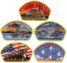 2015 Central Florida Council Popcorn Military CSP Patch Badge Set BSA Lot FOS