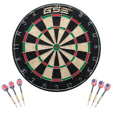 18x1.5-Inch Professional Regulation Size Bristle Dart Board w/6 Steel Tip Darts