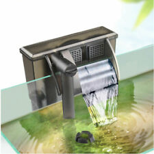 220V External Hang On Filter Surface Skimmer Waterfall Mini Aquarium Fish Tank