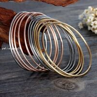 Gold/Silver/Rose Gold Stainless Steel Women's Bracelet Bangle Cuff New 12pcs/set