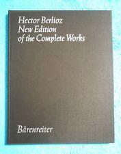 Hector BERLIOZ - New Edition of the Complete Works - Vol.13 BÄRENREITER 5453 RAR