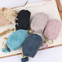 Fashion Girls PU Leather Mini Wallet Card Key Holder Zip Coin Purse Clutch Bag