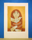 """Sami Briss Limited Edition (32/250) Signed Lithograph """"Girl and a Dove""""  with CA"""