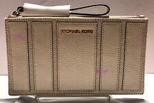Michael Kors MK Brooklyn Applique Large Zip Clutch Wristlet NEW AUTH