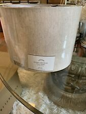 Pottery Barn Linen Straight Sided Drum Lamp Shade  Small In Flax NEW