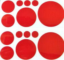 14 x reflektierende Kreise Aufkleber/Sticker/Reflektorfolie, Farbe: Rot