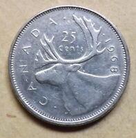 Canada 1968 25 Cent Non Silver Coin Rare.
