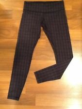 lululemon Wunder Under pants tights Ziggy wee stripe Black Size 10