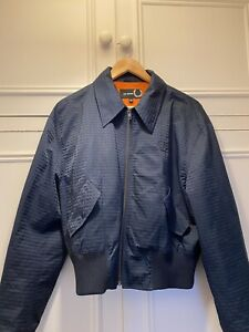 Fred Perry x Raf Simons Cropped Swallow Bomber Jacket Size 40 M/L