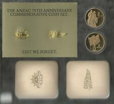 1990 FIVE DOLLAR PROOF SET - *75TH ANZAC ANNIVERSARY* - WITHOUT PRESENTATION BOX