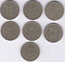 More details for mix of better date one shilling coins | bulk coins | pennies2pounds
