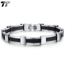 TT Stainless Steel Greek Key Bracelet Wristband (BBR222) NEW