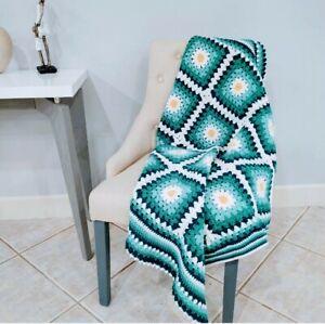 Crochet blanket throw Daisy Flower lap blanket throw frazada tejida manta tejida